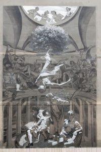c) Nicola Verlato, Hostia, 2015 (in via Galeazzo Alessi, denominata La Cappella Sistina di Tor Pignattara)
