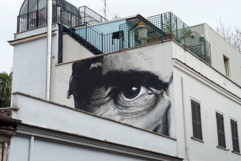 Mauro Pallotta aka Maupal, L'occhio è l'unico che può accorgersi della bellezza, 2014 – via Fanfulla da Lodi, Roma